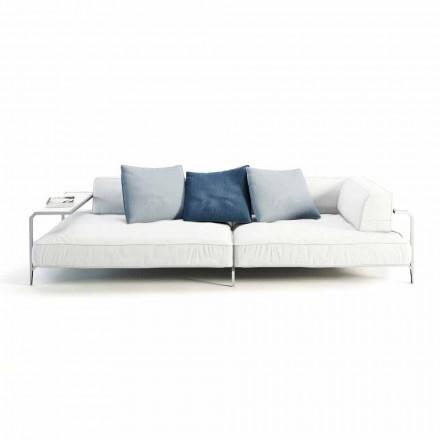 Sofá de exterior tapizado en tela de diseño moderno Made in Italy - Arkansas