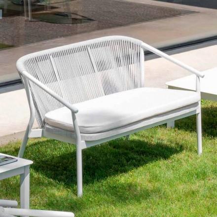 Tela tapizada apilable para exteriores de dos plazas para sofá - Smart by Varaschin