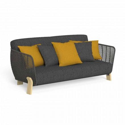 Sofá de exterior en tela y cuerda tapizada de alta calidad - Argo by Talenti