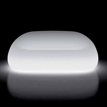 Sofá de exterior brillante con luz LED en polietileno Made in Italy - Ervin