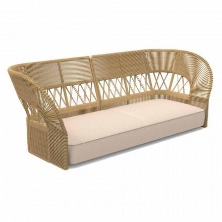 Sofá de jardín de tres plazas de diseño moderno - Cliff Decò by Talenti