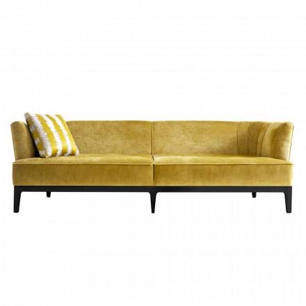 Sofá de diseño tapizado en madera de haya Grilli Kipling made Italy
