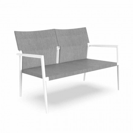 Sofá de jardín de dos plazas en aluminio y textil - Adam by Talenti