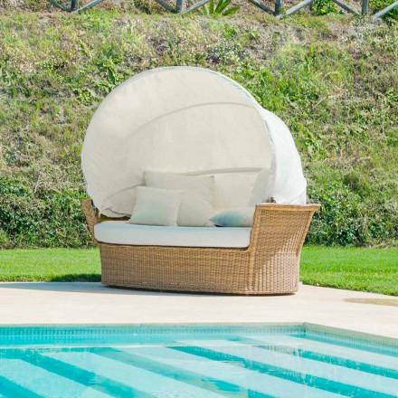 Sofá de jardín moderno con trenzado hecho a mano Hector