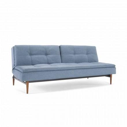 Sofá cama azul regulable en 3 posiciones modelo Dublexo