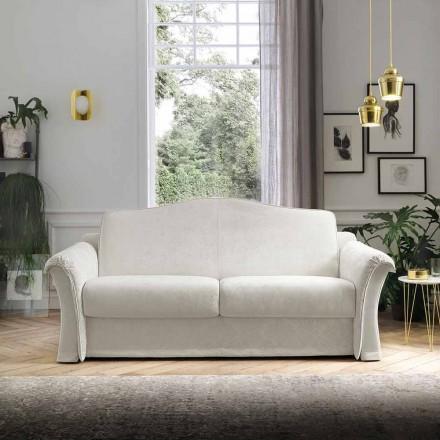 Sofá cama de tela con detalles Arabescato Made in Italy - Gigliola