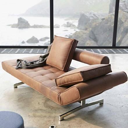 Sofá cama moderno Ghia by Innovation tapizado con patas cromadas