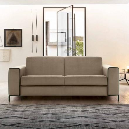 Sofá cama moderno de tela con patas de metal Made in Italy - Tulipano