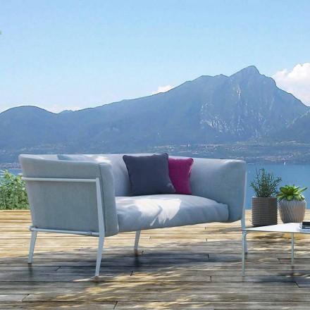 Sofá moderno para exterior o interior extraíble hecho en Italia - Carmín