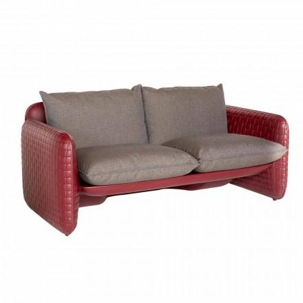 Sofá de dos plazas para exterior en tela o cuero - Mara Slide