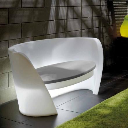 Sofá de interior de polietileno de diseño Slide Rap hecho en Italia