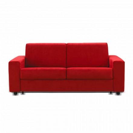 Tres plazas sofá moderno de cuero de diseño de imitación / tela hecha en Italia Mora