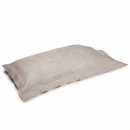 Funda de almohada en lino puro color natural Made in Italy - Poppy