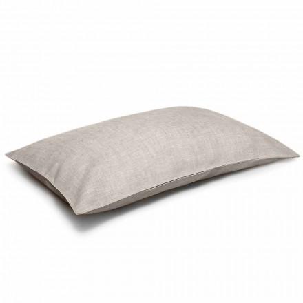 Funda de almohada de cama de lino natural puro Made in Italy - Blessy