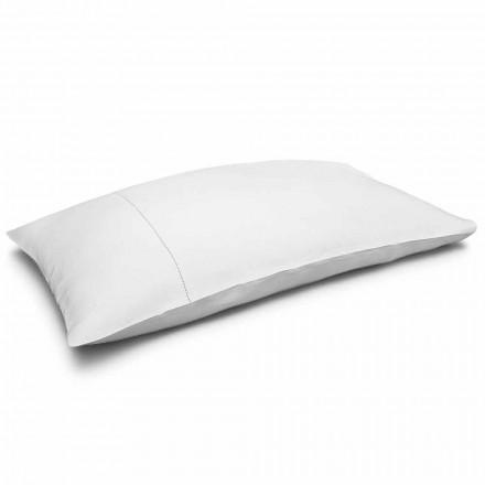 Funda de almohada de cama de lino puro blanco crema Made in Italy - Chiana