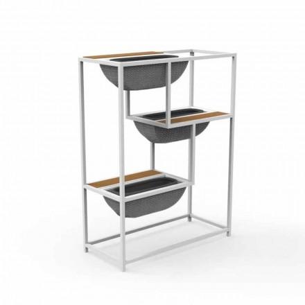 Jardinera rectangular moderna en aluminio de diseño de lujo - Jackie by Talenti