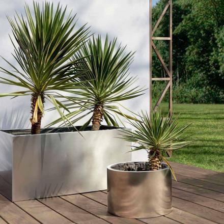 Jardinera de jardín redonda o rectangular en acero Made in Italy - Philly