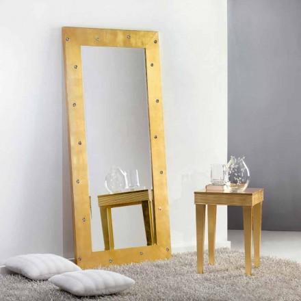 Gran espejo suelo / pared con cristales Swarovski Vivien
