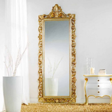 Gran espejo suelo / pared de diseño clásico Tiara, 86x220 cm