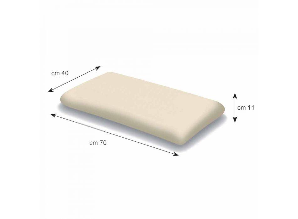 Almohada de espuma viscoelástica de 11 cm de altura Made in Italy - Jasmine