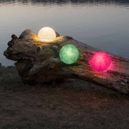 Lámpara de pared para exterior In-es.artdesign Button Out en nebulita de colores