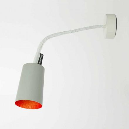 Lámpara de pared de diseño In-es.artdesign Pintura en cemento pintado.