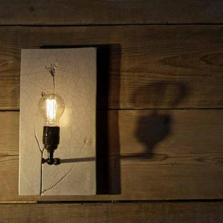 Lámpara de pared hecha a mano de cerámica y hierro Made in Italy - Floria