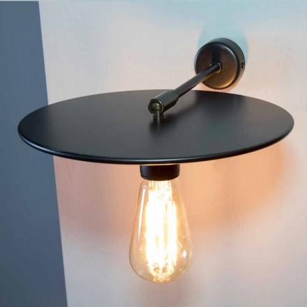 Lámpara de pared hecha a mano en hierro negro o acabado corten Made in Italy - Ufo