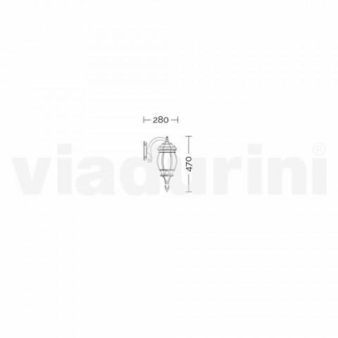 Anika lámpara de pared de aluminio para exterior fabricada en Italia