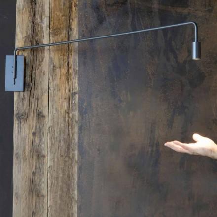 Lámpara de pared para exterior en hierro con LED ajustable Made in Italy - Forla
