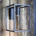 Aplique de exterior en hierro y aluminio con LED Made in Italy - Cubola