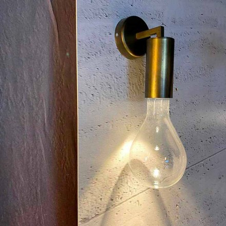 Lámpara de pared hecha a mano en aluminio y vidrio Made in Italy - Ravenna