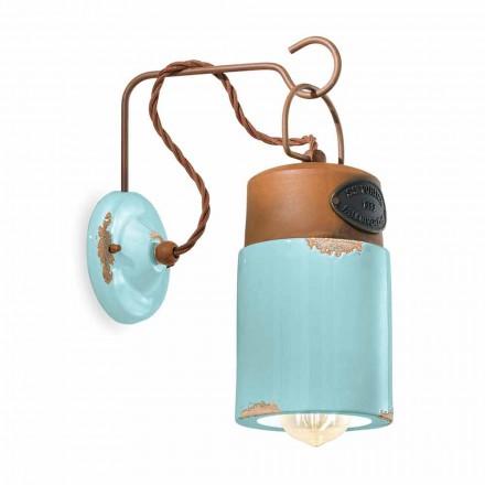 Lámpara de pared hecha de óxido de cerámica y hierro Desiree Ferroluce