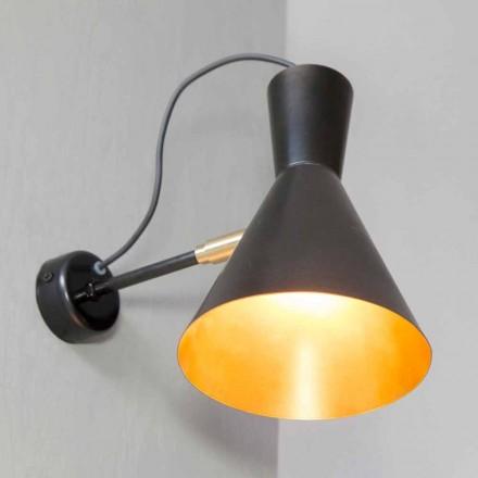 Lámpara de pared hecha a mano en hierro y aluminio Made in Italy - Selina
