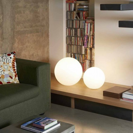 Moderna lámpara de pie / mesa Slide Globo, hecha en Italia