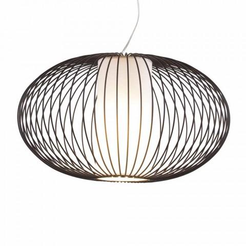 acero pintado lámpara colgante, Ø90xh.53xl.cavo100cm, alegría