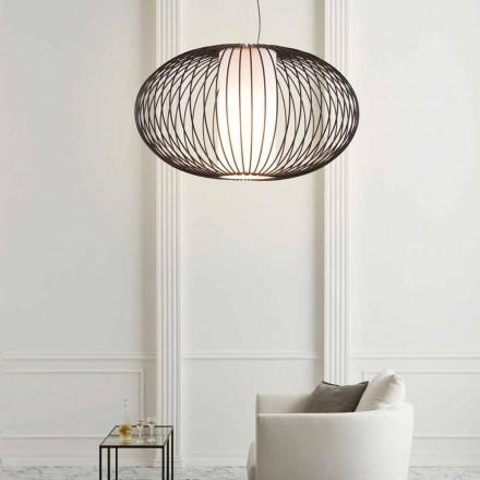 acero pintado lámpara colgante, 90xh.53x L.cavo 100 cm alegría