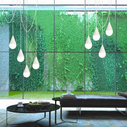 Lámpara de techo de diseño moderno color blanco modelo Drop