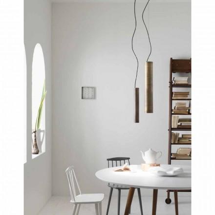 Lámpara de suspensión cilíndrica Ø4 Girasoli Il Fanale