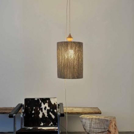 Lámpara de suspensión/pie de madera y 100% lana modelo Bois