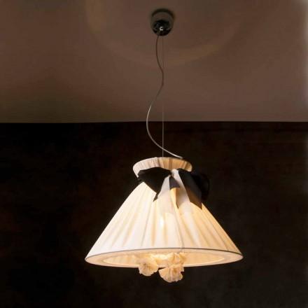 Lámpara de techo vintage de diseño realizada con seda Chanel