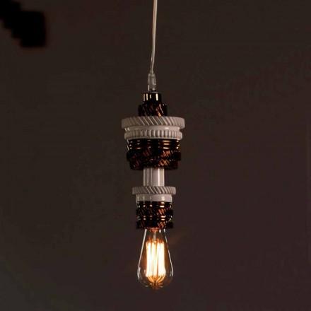 Lámpara de Suspensión de Diseño en Cerámica 3 Acabados Made in Italy - Futurismo