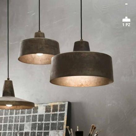 Lámpara de suspensión de hierro envejecido Jean Il Fanale