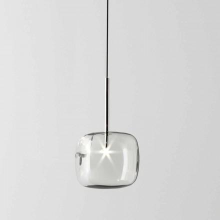 Lámpara de suspensión de diseño en metal y vidrio Made in Italy - Donatina