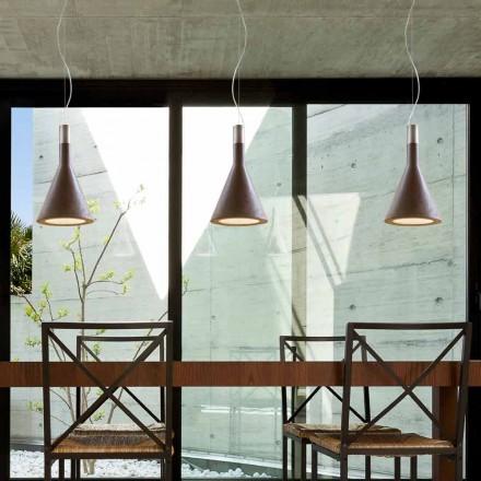 Lámpara de suspensión de cemento Funnel de Aldo Bernardi