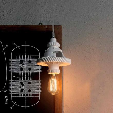 Lámpara de Suspensión en Cerámica en 3 Acabados de Diseño Moderno - Futurismo