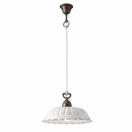 Lámpara de suspensión de cerámica Ø32 Anita Il Fanale