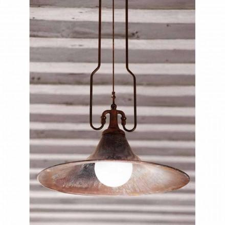 Lámpara de suspensión de latón y cobre modelo Mulino