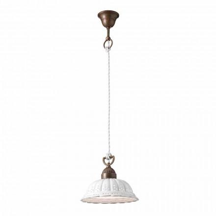 Lámpara de suspensión de cerámica Ø22 Anita Il Fanale