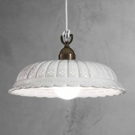 Lámpara de suspensión de cerámica Ø42 Anita Il Fanale